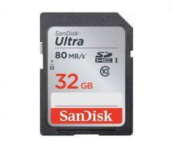 Sandisk Ultra SDHC 32GB 80MB/S Class 10 Flash Memory Card