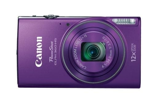 Canon PowerShot ELPH 360 HS with 12x Optical Zoom and Built-In Wi-Fi (Purple)