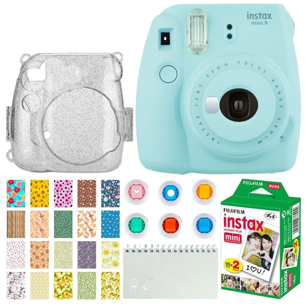 Photo4less Fujifilm Instax Mini 9 Instant Camera Ice