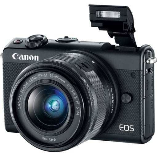 Canon EOS M100 Mirrorless Digital Camera with 15-45mm Lens (Black)