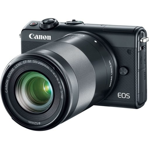 Canon EOS M100 w/ 15-45mm Lens & 55-200mm Lens - Wi-Fi, Bluetooth, and NFC enabled (Black)