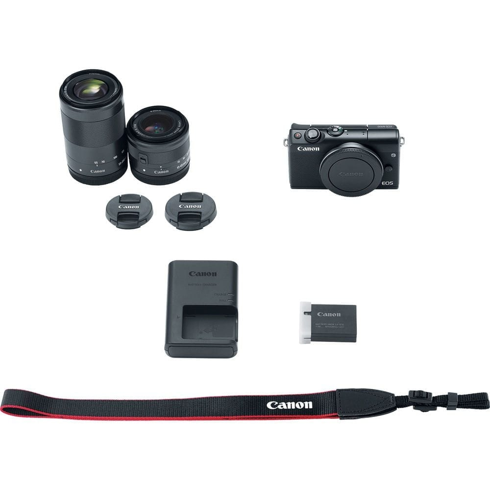 Photo4less Canon Eos M100 W 15 45mm Lens 55 200mm Wi Fi 80d Dslr Camera With 18
