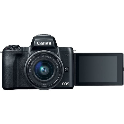 Canon EOS M50 Video Creator Kit with EF-M15-45mm Lens, 4K Video Capture, Rode VIDEOMIC GO, and 32GB Memory Card (Black)