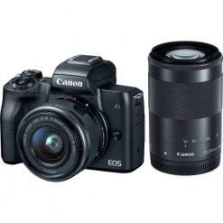 Canon EOS M50 Mirrorless Camera Kit w/  EF-M15-45mm   EF-M 55-200mm Lenses and 4K Video (Black)