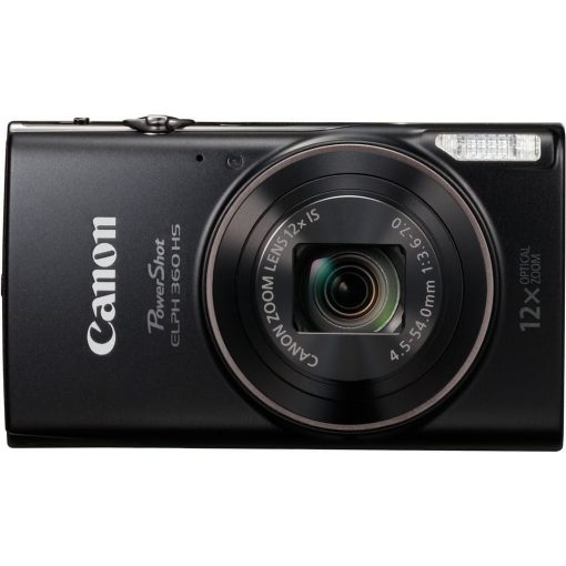 Canon PowerShot ELPH 360 HS with 12x Optical Zoom and Built-In Wi-Fi (Black)