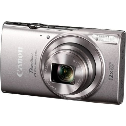 Canon PowerShot ELPH 360 HS with 12x Optical Zoom and Built-In Wi-Fi (Silver)