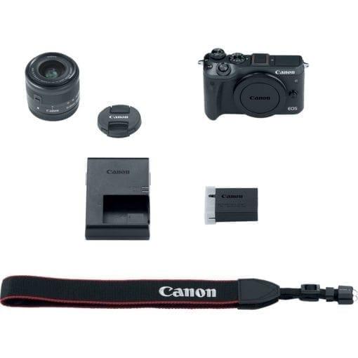 Canon EOS M6 EF-M 15-45mm f/3.5-6.3 IS STM Lens Kit (Black)