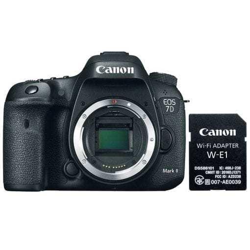 Canon EOS 7D Mark II Digital SLR Camera Body Wi-Fi Adapter Kit