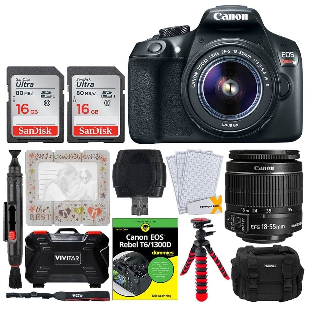 Canon Rebel T6 Bundle with 18-55mm Lens Accessory Kit