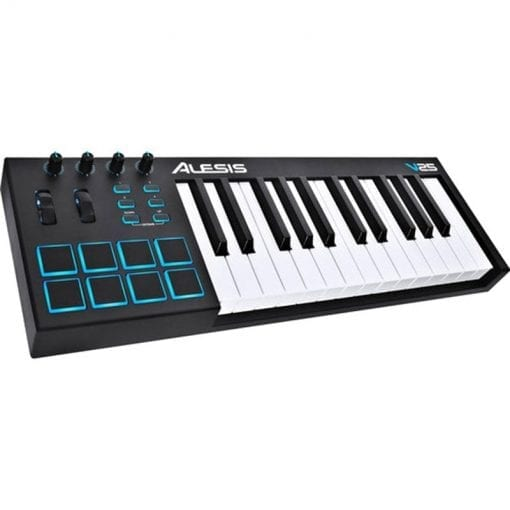 Alesis V25   25-Key USB MIDI Keyboard & Drum Pad Controller (8 Pads / 4 Knobs / 4 Buttons)