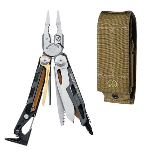Leatherman - MUT Multitool, Stainless Steel with MOLLE Brown Sheath