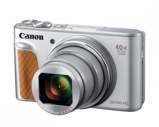 Canon PowerShot SX740 Digital Camera w/40x Optical Zoom & 3 Inch Tilt LCD – 4K VIdeo, Wi-Fi, NFC, Bluetooth Enabled (Silver)