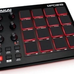 Akai Professional MPD218   MIDI Drum Pad Controller with Software Download Package (16 pads / 6 knobs / 6 buttons)