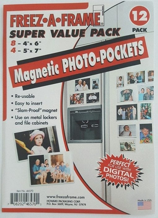 Freez-A-Frame Magnetic Super Value Combo Pack with (8) 4 x 6 & (4) 5 x 7 Magnetic Photo Frames 12 Pack