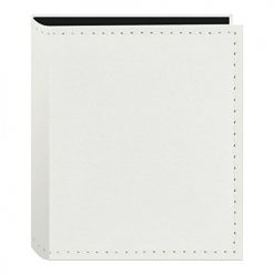 Pioneer Sewn Leatherette Photo Album 40 Pockets Hold Fujifilm Instax and Polaroid Credit Card Size Instant Prints or Name Cards, White