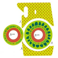 Xit Camera Sticker For Fuji Instax Mini Cameras Yellow XTFSTICKY