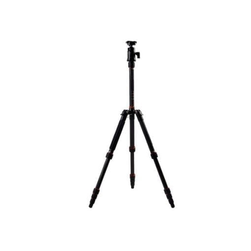"""FotoPro X-Go 5-Section Carbon Fiber Tripod with Built-In Monopod, FPH-42Q Ball Head, 17 lbs Capacity, 56"""" Maximum Height"""