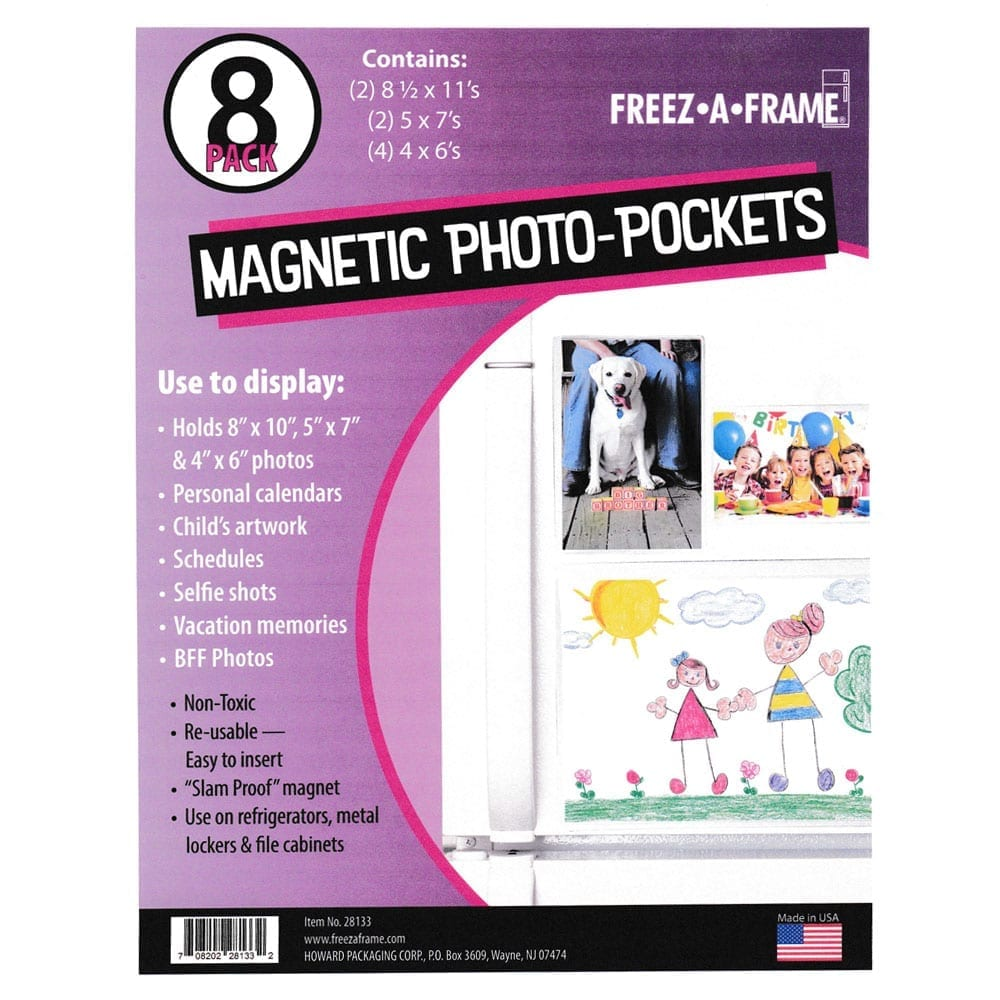 Freez A Frame Clear Magnetic Picture Frames 16 Pack 2 5 X 7 4