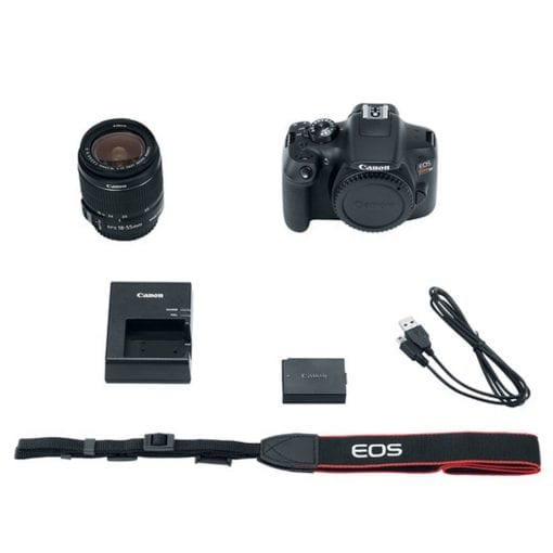 Canon EOS Rebel T6 Digital SLR Camera with 18-55mm EF-S f/3.5-5.6 IS II Lens - Full Accessory Bundle