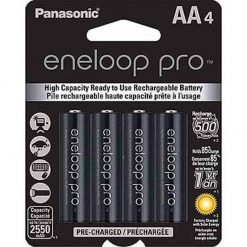 Panasonic BK-3HCCA4BA eneloop pro AA High Capacity New Ni-MH Pre-Charged Rechargeable Batteries, 4 Pack
