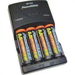 Vidpro Power2000 XP-333 Rapid AA AAA Battery Charger Set with 4 2900mah AA NiMH Batteries