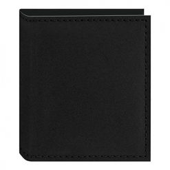 Pioneer Sewn Leatherette Photo Album 40 Pockets Hold Fujifilm Instax and Polaroid Credit Card Size Instant Prints or Name Cards, Black