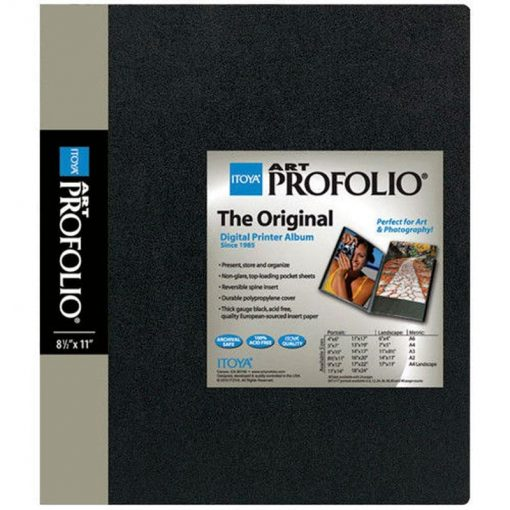 Itoya Archival Art Profolio Presentation Book – 48 – 8.5 x 11 Inches Pocket Pages, 96 Views IA-12-8-48