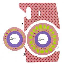 Xit Camera Sticker For Fuji Instax Mini Cameras Pink XTFSTICKPK