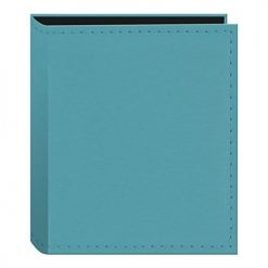 Pioneer Sewn Leatherette Photo Album 40 Pockets Hold Fujifilm Instax and Polaroid Credit Card Size Instant Prints or Name Cards, Blue