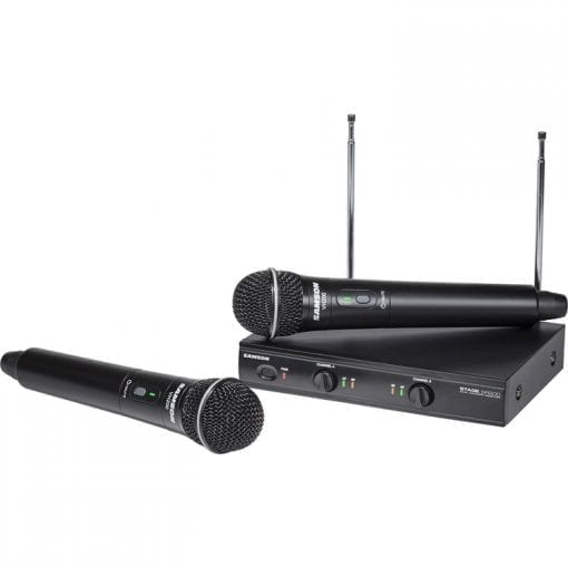 Samson Stage 200S Dual Channel Handheld VHF Wireless System, Channel D