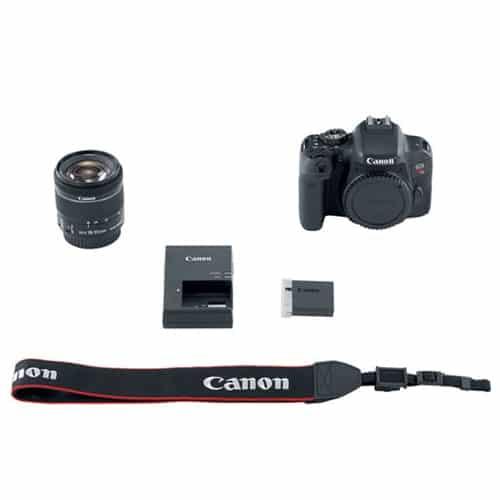 Canon EOS Rebel T7i 24.2MP Digital SLR Camera + EF-S 18-55mm f/4-5.6 IS STM Lens + 64GB Memory Card + Wide Angle & Telephoto Lens + UV Filter Kit + Vivitar Gadget Bag + Quality Tripod + Valued Bundle