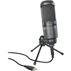 Audio-Technica AT2020USB  Cardioid Condenser USB Microphone, Black