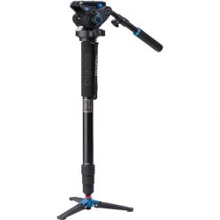 Benro Aluminum Series 4 Monopod w/ 3-Leg Locking Base and S6 Video Head (A48TDS6)