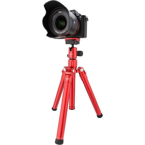 MeFOTO RoadTrip Air Tripod and Selfie Stick in One Kit - Red (RTAIRRED)