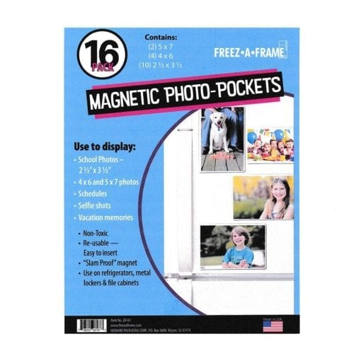 Freez A Frame Clear Magnetic Pockets 16 Pack (2) 5 x 7 (4) 4 x 6 (10) 2.5 x 3.5 – Exclusive