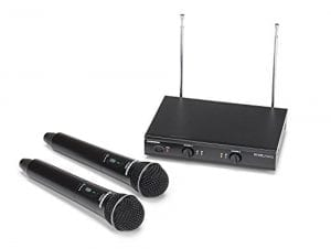 Samson Stage 200 Dual-Channel Handheld VHF Wireless System with Two Q6 Dynamic Microphones (Group C)