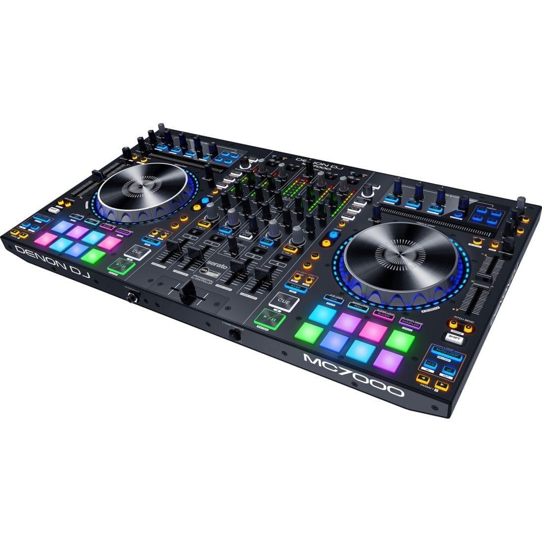 Denon DJ MC7000 | Premium 4-Channel DJ Controller & Mixer with Dual USB  Audio Interfaces and full Serato DJ download