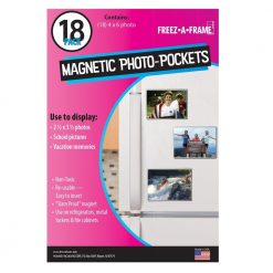 Freez-A-Frame Clear Magnetic Photo Frames 4 x 6 (Pack of 18)