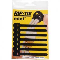 Rip Tie 3.5 L Wrap Hook-&-Loop Cable Tie BK PK 7 Q-35-007-BK