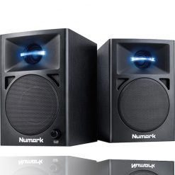 Numark N-Wave 360 | Powered Desktop DJ Monitor Speakers (3 woofer / 60 watts)
