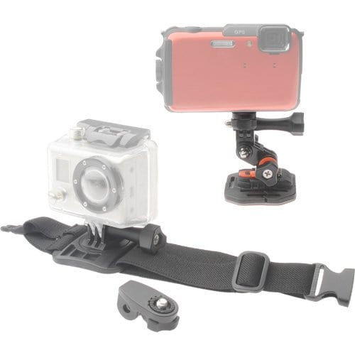 Vivitar Pro Series Curved Helmet & Arm Mounts for Gopro Action Cameras