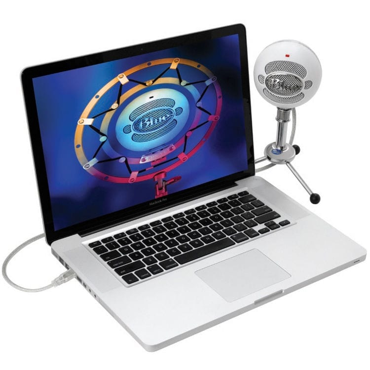 photo4less blue snowball usb microphone brushed aluminum. Black Bedroom Furniture Sets. Home Design Ideas