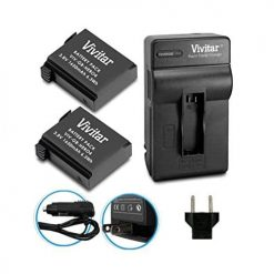 Vivitar Charger + Two Batteries For GoPro HERO4