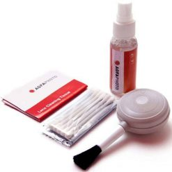 AGFA 5-Pieces Lens Cleaning Kit with Fluid, Blower Brush, Lens Tissue, Fiber Cloth and Cotton Swabs APCLK5