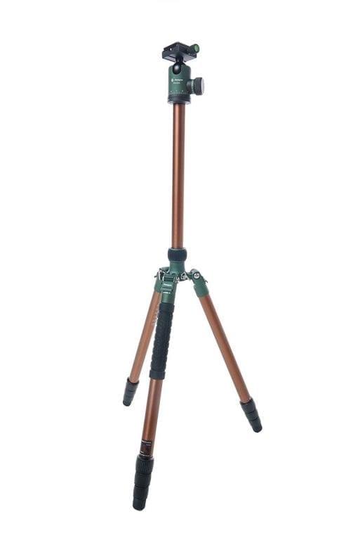 FotoPro X-Go Predator Tripod Kit, Brown with Matte Green