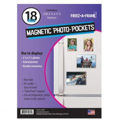 "Freez-A-Frame Clear Magnetic Photo Frames 2.5 "" x 3.5"" (Pack of 18),"
