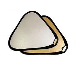 Vidpro 32 Inch Collapsible Reflector Disc Triangular with Deluxe handle Gold & Silver in Case RF82