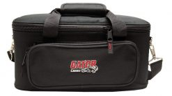 Gator GM12B Padded Bag for Up to 12 Mics w/ Exterior Pockets for Cables