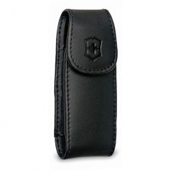 Swiss Army Pouches Medium Pocket Knife Clip Pouch, Leather Black Box
