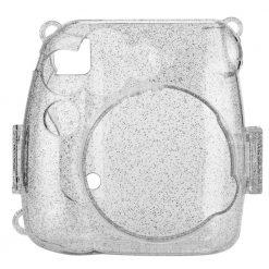 Xit Glitter Hard Case for Fuji Instax Mini 9 Cameras Clear XTFC4CG